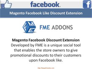 Magento Facebook Discount