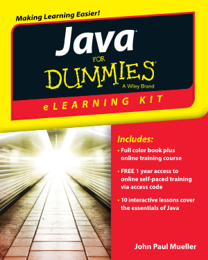 Java Elearning Kit For Dummies, Java Programming Book