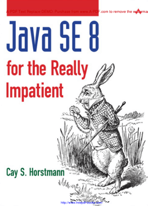 Free Download PDF Books, Java Se 8 For The Really Impatient