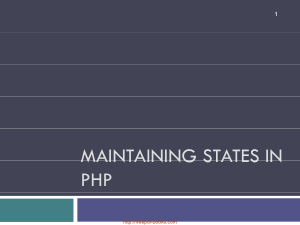 Maintaining States In PHP – PHP Lecture 11