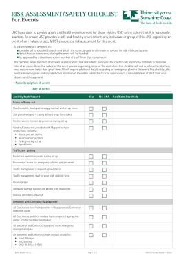 Free PDF Books, Event Risk Assessment and Safety Checklist Template