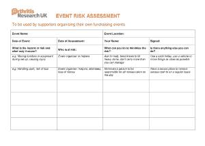 Free PDF Books, Event Risk Assessment Sample Template