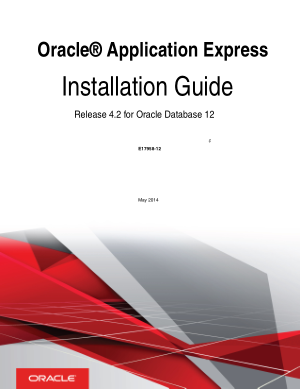 Oracle Application Express Installation Guide For Oracle Database 12