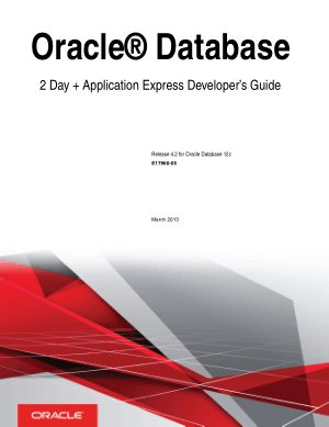 Free Download PDF Books, Oracle Database 2 Day Application Express Developer Guide