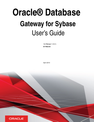 Oracle Database Gateway For Sybase User Guide