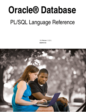 Oracle Database Pl SQL Language Reference