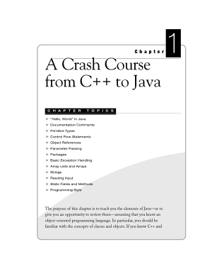 A Crash Course From C++ To Java