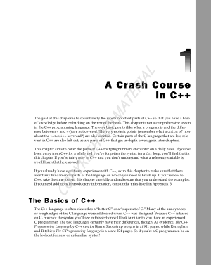 A Crash Course In C++