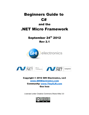 Free Download PDF Books, Beginners Guide To C# And The .Net Micro Framework, Pdf Free Download