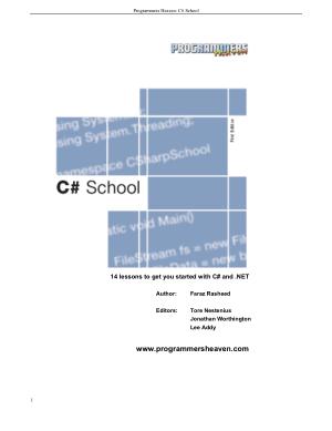 Free Download PDF Books, C# eBook, Pdf Free Download