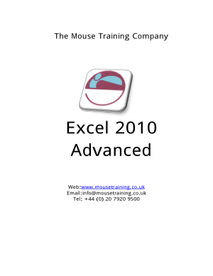 Excel 2010 Advanced, Excel Formulas Tutorial
