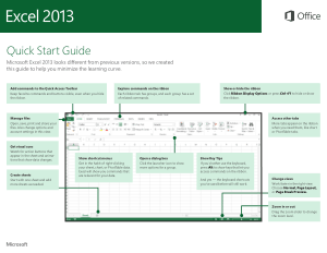 Excel 2013 Quick Start Guide, Excel Formulas Tutorial