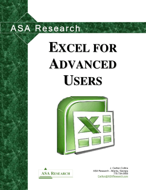 Free Download PDF Books, Excel For Advanced User