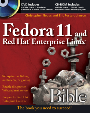 Free Download PDF Books, Fedora 11 And Red Hat Enterprise Linux Bible