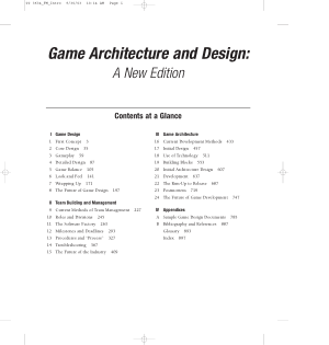 Game Architecture And Design A New Edition