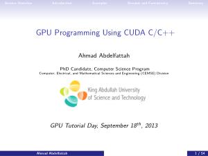 Gpu Programming Using Cuda C C++