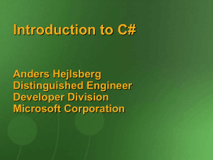 Free Download PDF Books, Introduction To C# A Component Oriented Language