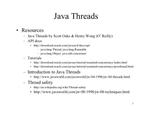 Introduction To Java Threads