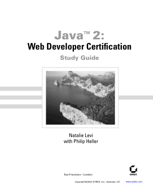 Java 2 Web Developer Certification Study Guide, Java Programming Tutorial Book