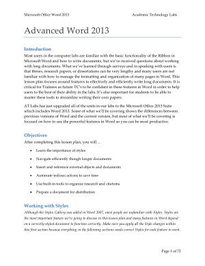 Free Download PDF Books, Microsoft Office Advanced Word 2013