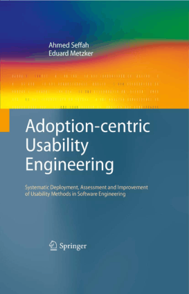 Adoption Centric Usability Engineering, Pdf Free Download
