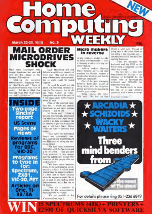 Home Computing Weekly Technology Magazine 003
