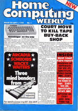 Home Computing Weekly Technology Magazine 004