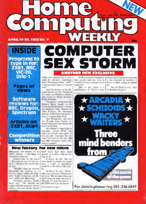 Home Computing Weekly Technology Magazine 007