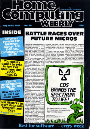 Home Computing Weekly Technology Magazine 020