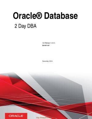 Oracle Database 2 Day Dba