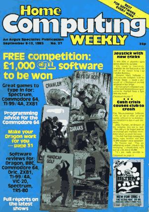Free Download PDF Books, Home Computing Weekly Technology Magazine 027