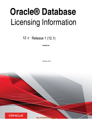 Oracle Database Licensing Information