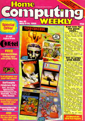 Free Download PDF Books, Home Computing Weekly Technology Magazine 061