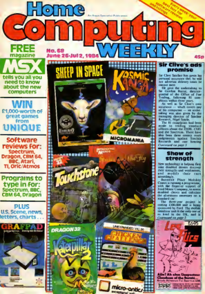 Free Download PDF Books, Home Computing Weekly Technology Magazine 068
