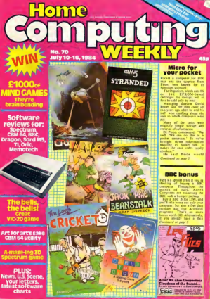 Free Download PDF Books, Home Computing Weekly Technology Magazine 070