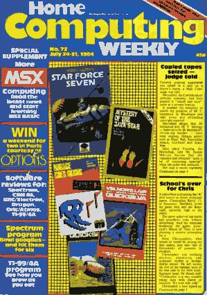 Free Download PDF Books, Home Computing Weekly Technology Magazine 072