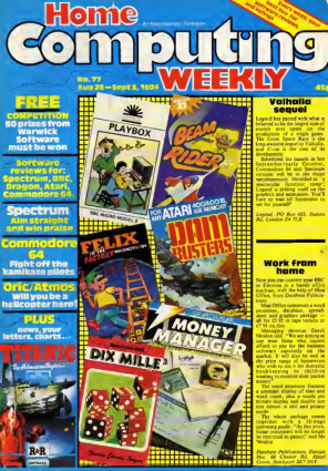 Free Download PDF Books, Home Computing Weekly Technology Magazine 077