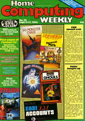 Free Download PDF Books, Home Computing Weekly Technology Magazine 079