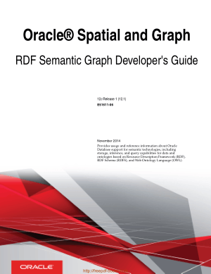 Oracle Spatial And Graph RDF Semantic Graph Developers Guide