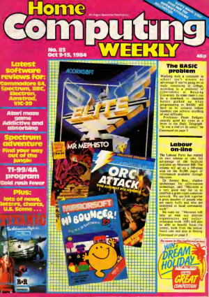 Home Computing Weekly Technology Magazine 083