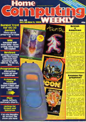 Home Computing Weekly Technology Magazine 086
