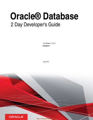 Oracle Database 2 Day Developers Guide