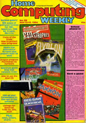 Free Download PDF Books, Home Computing Weekly Technology Magazine 088