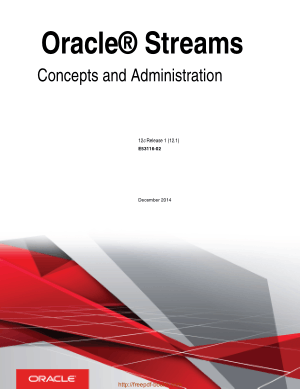 Oracle Streams Concepts And Administration