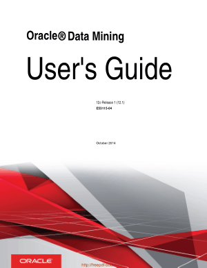 Oracle Data Mining Users Guide