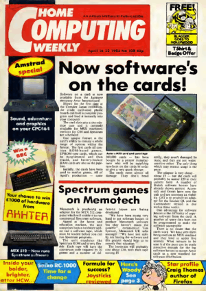 Home Computing Weekly Technology Magazine 108