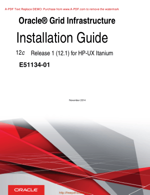 Oracle Grid Infrastructure Installation Guide For HP UX Itanium