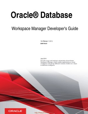 Oracle Database Workspace Manager Developers Guide