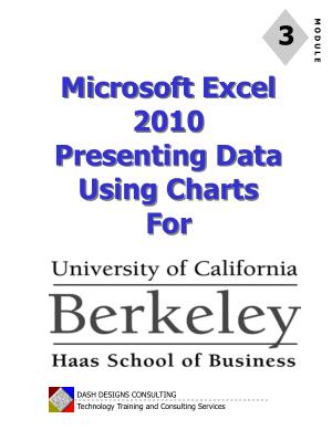 Microsoft Excel 2010 Presenting Data Using Charts
