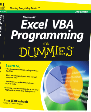Microsoft Excel Vba Programming For Dummies 2nd Edition Book